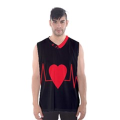 Hart Bit Men s Basketball Tank Top by Valentinaart