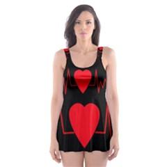 Hart Bit Skater Dress Swimsuit