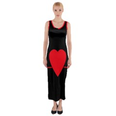 Hart Bit Fitted Maxi Dress by Valentinaart