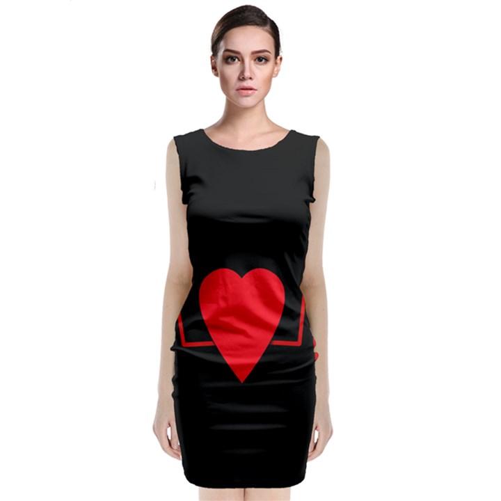 Hart bit Classic Sleeveless Midi Dress