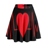 Hart bit High Waist Skirt