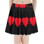 Hart bit Pleated Mini Skirt