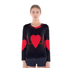 Hart Bit Women s Long Sleeve Tee by Valentinaart