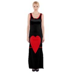 Hart Bit Maxi Thigh Split Dress