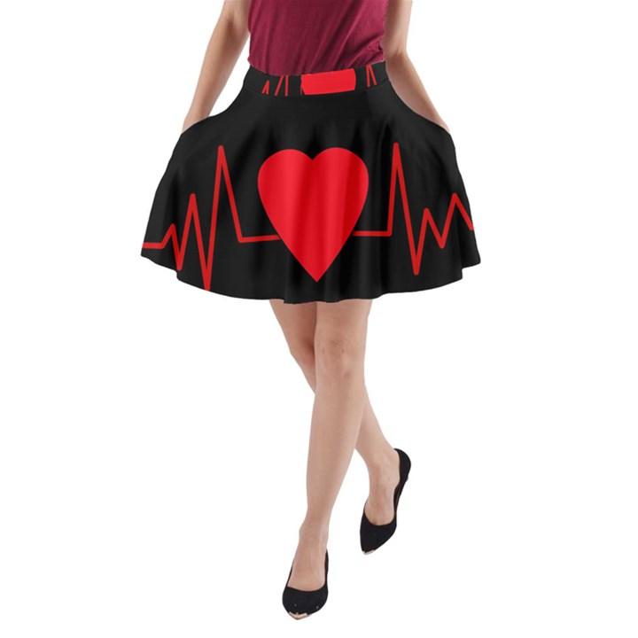 Hart bit A-Line Pocket Skirt