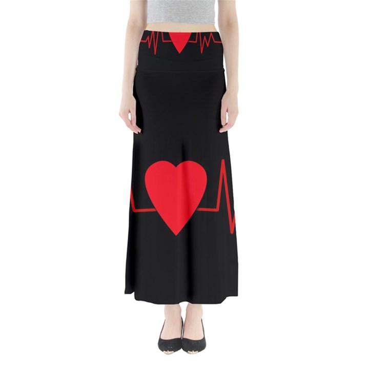 Hart bit Maxi Skirts