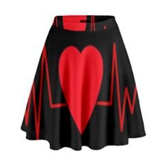 Hart Bit High Waist Skirt