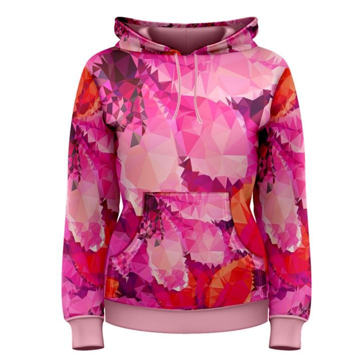 Geometric Magenta Garden Women s Pullover Hoodie