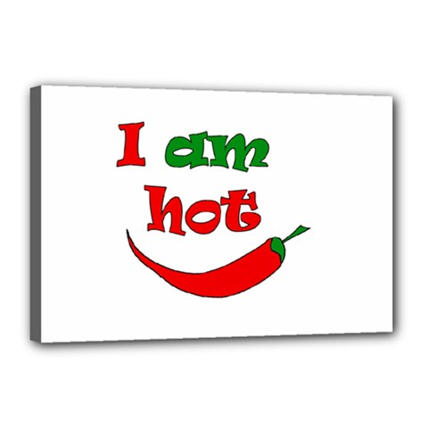 I Am Hot  Canvas 18  X 12