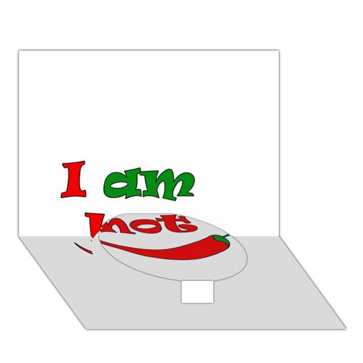 I am hot  Circle Bottom 3D Greeting Card (7x5)