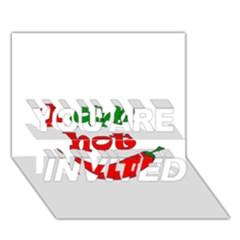 I Am Hot  You Are Invited 3d Greeting Card (7x5) by Valentinaart