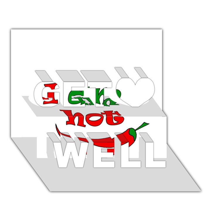 I am hot  Get Well 3D Greeting Card (7x5)