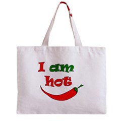 I Am Hot  Zipper Mini Tote Bag by Valentinaart