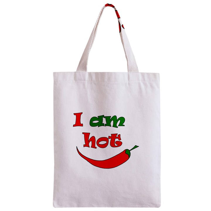 I am hot  Zipper Classic Tote Bag