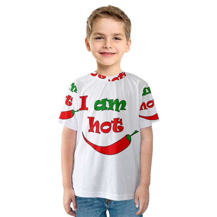 I am hot  Kids  Sport Mesh Tee