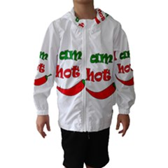 I Am Hot  Hooded Wind Breaker (kids)