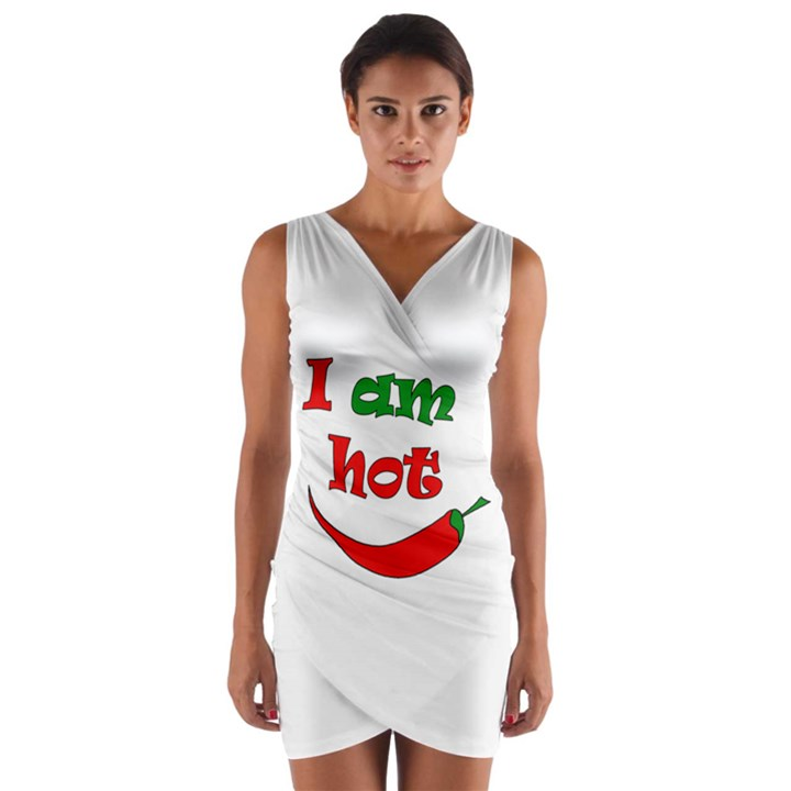 I am hot  Wrap Front Bodycon Dress