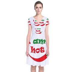 I Am Hot  Short Sleeve Front Wrap Dress