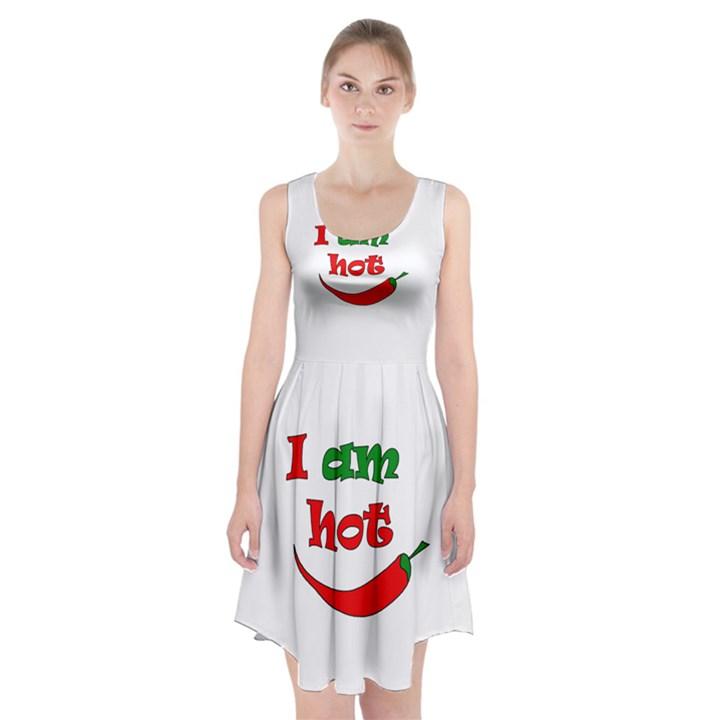 I am hot  Racerback Midi Dress