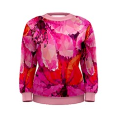 Geometric Magenta Garden Women s Sweatshirt by DanaeStudio