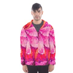 Geometric Magenta Garden Hooded Wind Breaker (men) by DanaeStudio