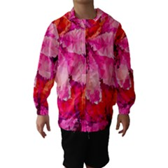 Geometric Magenta Garden Hooded Wind Breaker (kids) by DanaeStudio