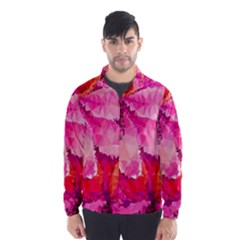 Geometric Magenta Garden Wind Breaker (Men)