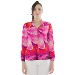 Geometric Magenta Garden Wind Breaker (women)
