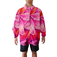 Geometric Magenta Garden Wind Breaker (kids)