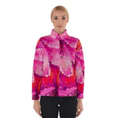 Geometric Magenta Garden Winter Jacket