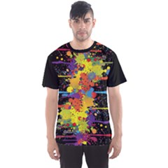 Crazy Multicolored Double Running Splashes Men s Sport Mesh Tee by EDDArt