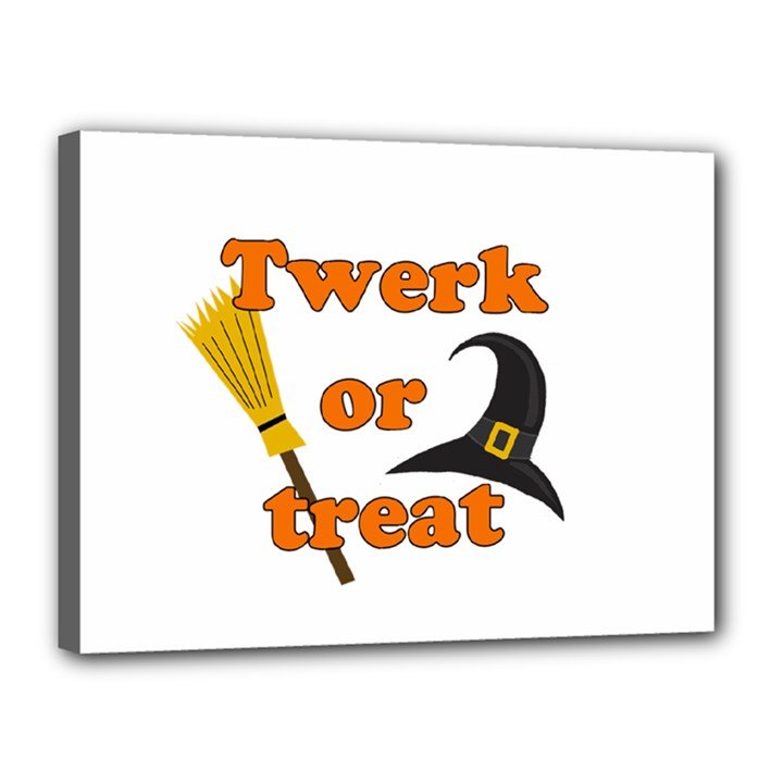 Twerk or treat - Funny Halloween design Canvas 16  x 12