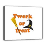Twerk or treat - Funny Halloween design Deluxe Canvas 24  x 20