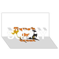 Twerk Or Treat   Funny Halloween Design Sorry 3d Greeting Card (8x4)