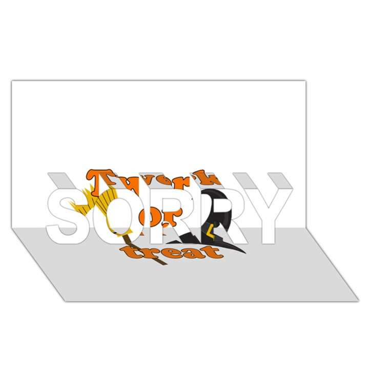 Twerk or treat - Funny Halloween design SORRY 3D Greeting Card (8x4)