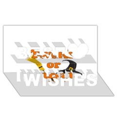 Twerk Or Treat   Funny Halloween Design Best Wish 3d Greeting Card (8x4)