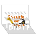 Twerk or treat - Funny Halloween design You Did It 3D Greeting Card (7x5)