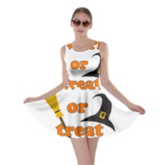 Twerk Or Treat   Funny Halloween Design Skater Dress