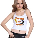 Twerk or treat - Funny Halloween design Spaghetti Strap Bra Top