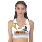 Twerk or treat - Funny Halloween design Sports Bra