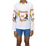 Twerk or treat - Funny Halloween design Kids  Long Sleeve Swimwear