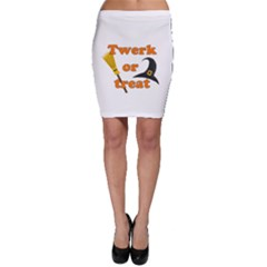 Twerk Or Treat   Funny Halloween Design Bodycon Skirt
