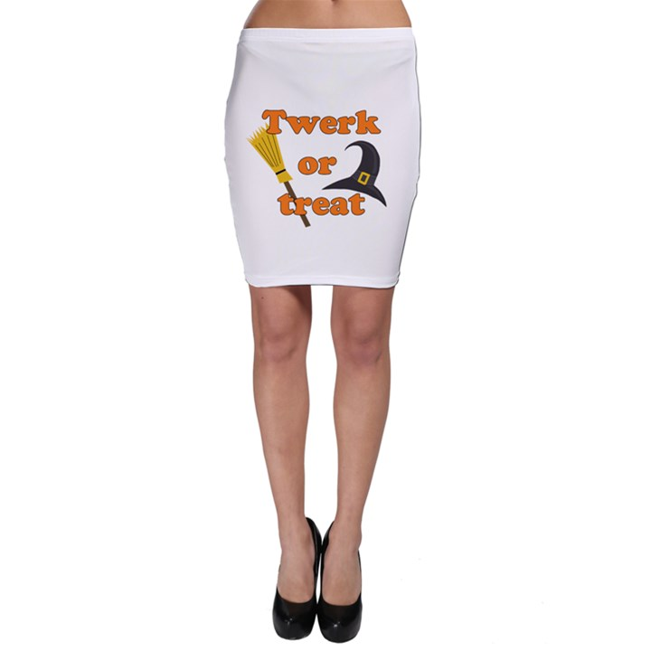 Twerk or treat - Funny Halloween design Bodycon Skirt