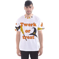 Twerk Or Treat   Funny Halloween Design Men s Sport Mesh Tee by Valentinaart