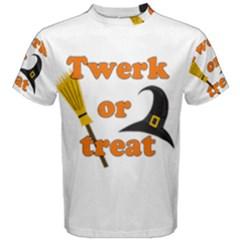Twerk Or Treat   Funny Halloween Design Men s Cotton Tee