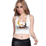 Twerk or treat - Funny Halloween design Racer Back Crop Top
