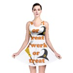 Twerk or treat - Funny Halloween design Reversible Skater Dress