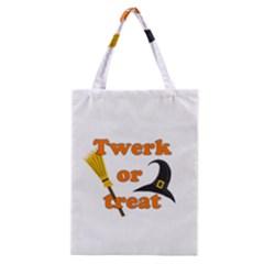 Twerk Or Treat   Funny Halloween Design Classic Tote Bag