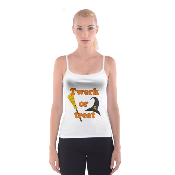 Twerk or treat - Funny Halloween design Spaghetti Strap Top