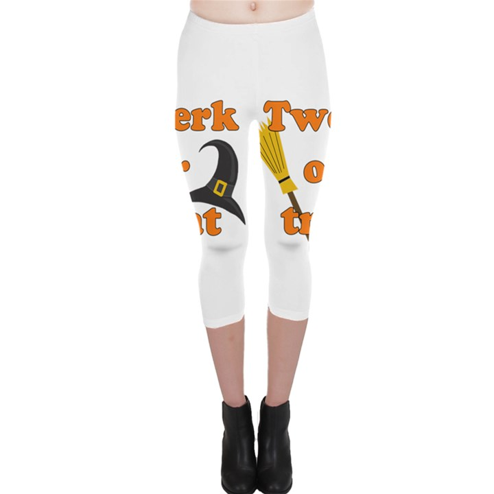 Twerk or treat - Funny Halloween design Capri Leggings